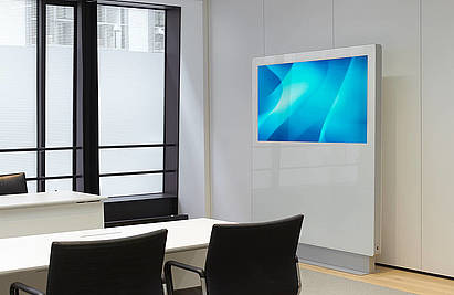 Medienstele: MIDS | Konferenztisch: xcone